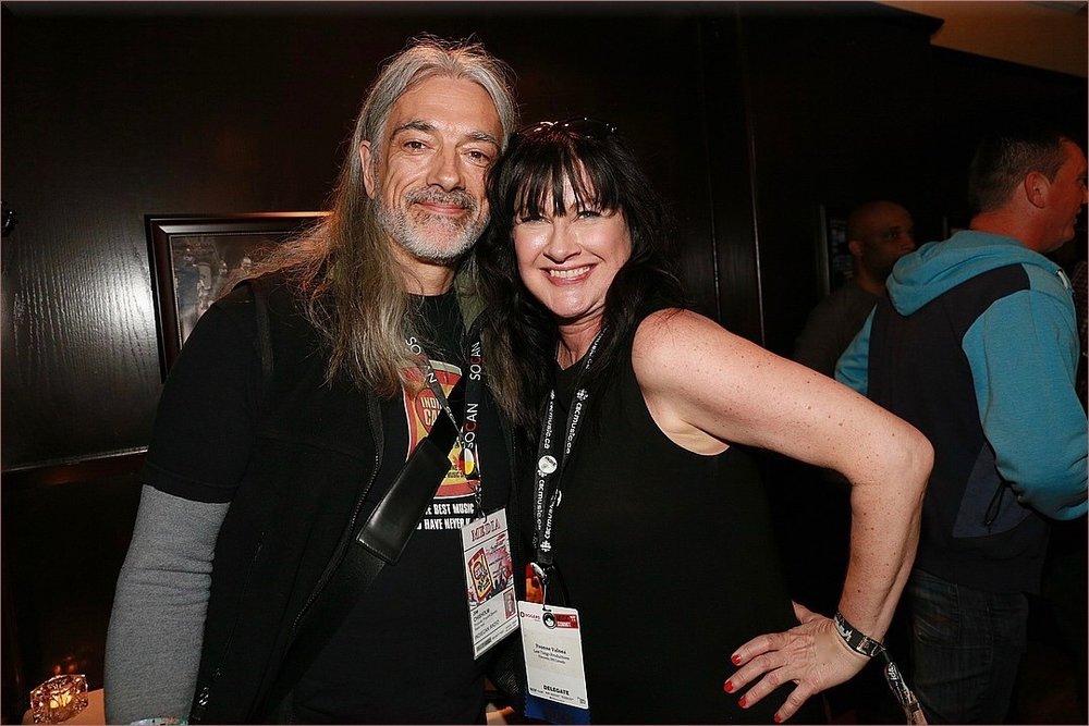 Last Tango's Yvonne Valnea with Indiecan/Sirius radio's Joe Chisholm