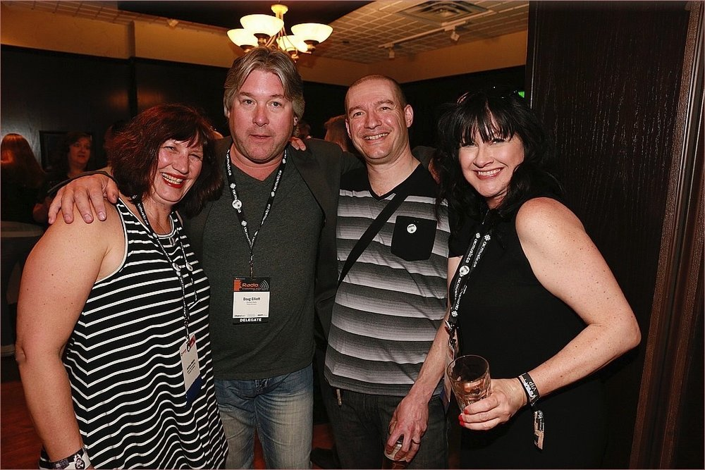 Last Tango's Yvonne Valnea with The Rock's Program Director Doug Elliott