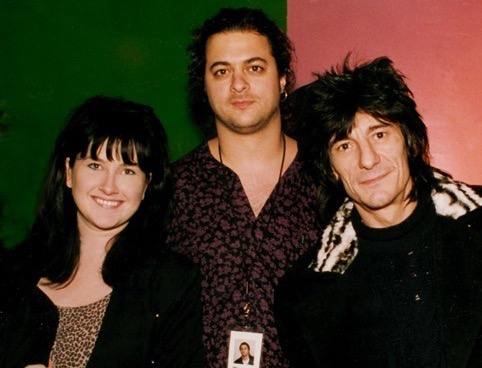 Yvonne Valnea with Ron Wood, publicizing his Cross-Canada tour and solo release