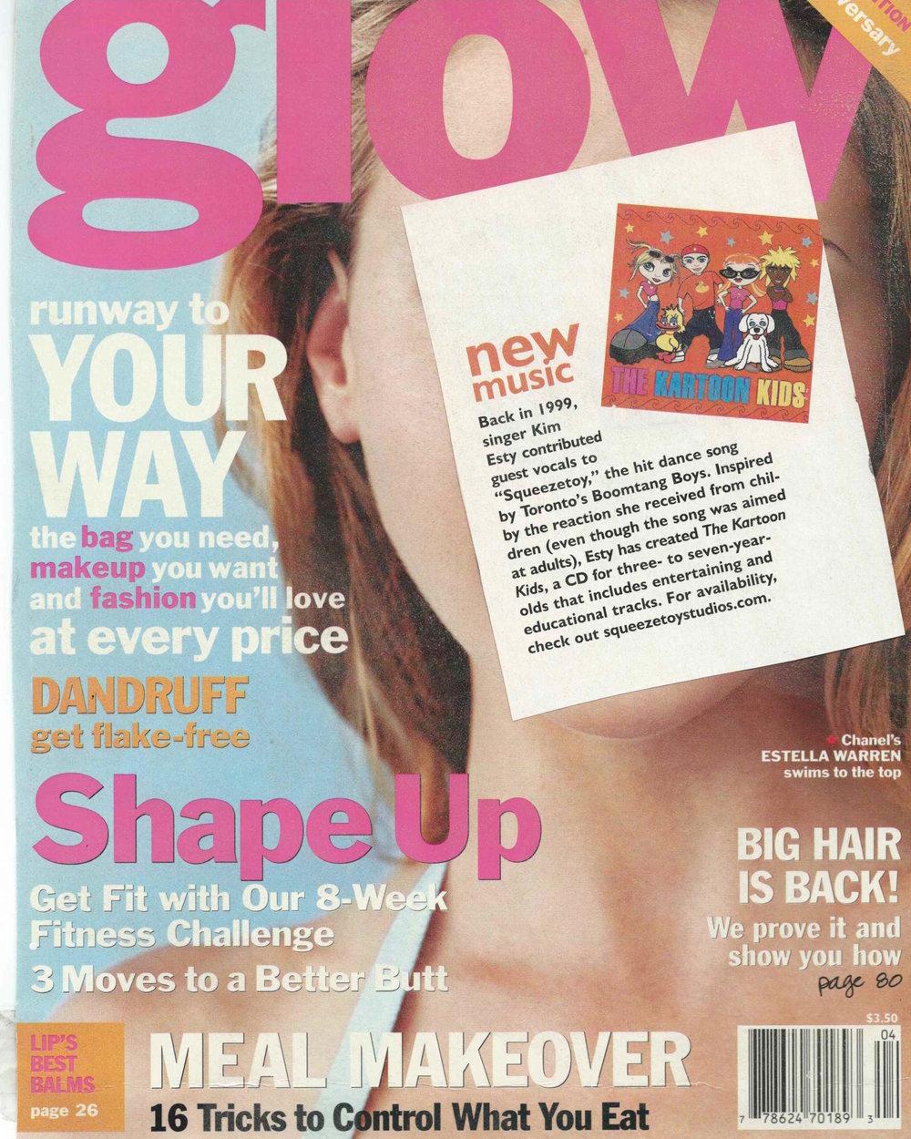 Kim Esty's Kartoon Kids featured in GLOW Magazine