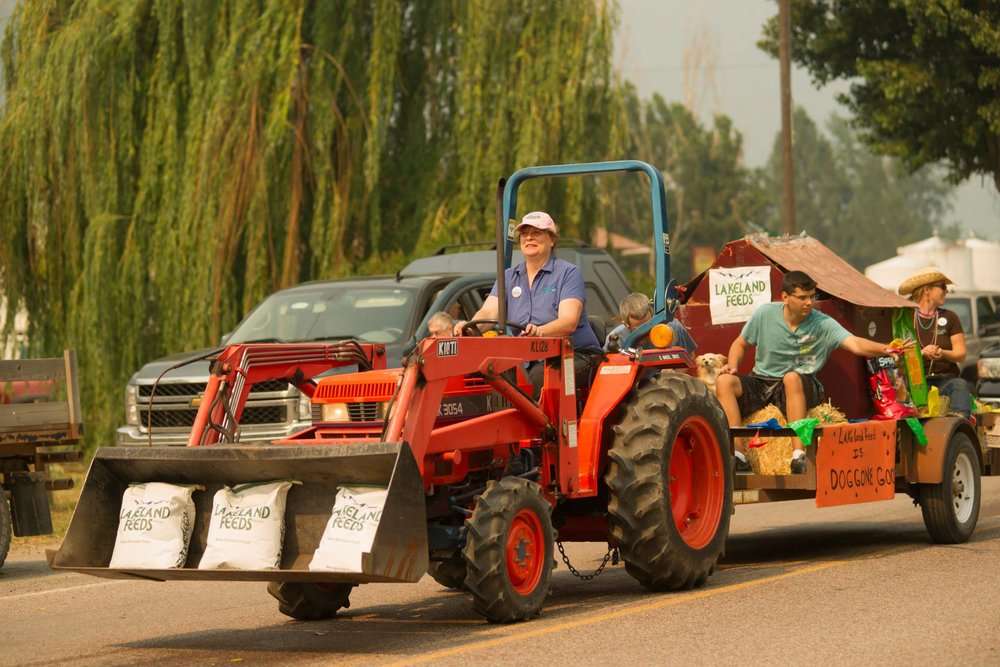 Local business, Alberton Feed & Supply, participating in the 2014 Alberton Railroad Day Parade.