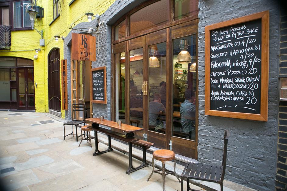 Homeslice - Neals Yard, Covent Garden.
