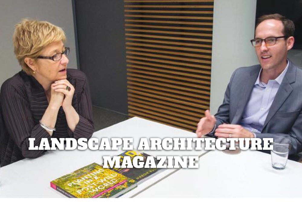 """Wild Times"" by Bradford McKee for Landscape Architecture Magazine looks at two books by Margie Ruddick and Thomas Rainer"