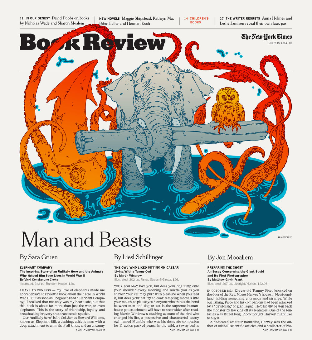 New York Times. Art Director Nicholas Blechman. For Article  Click here