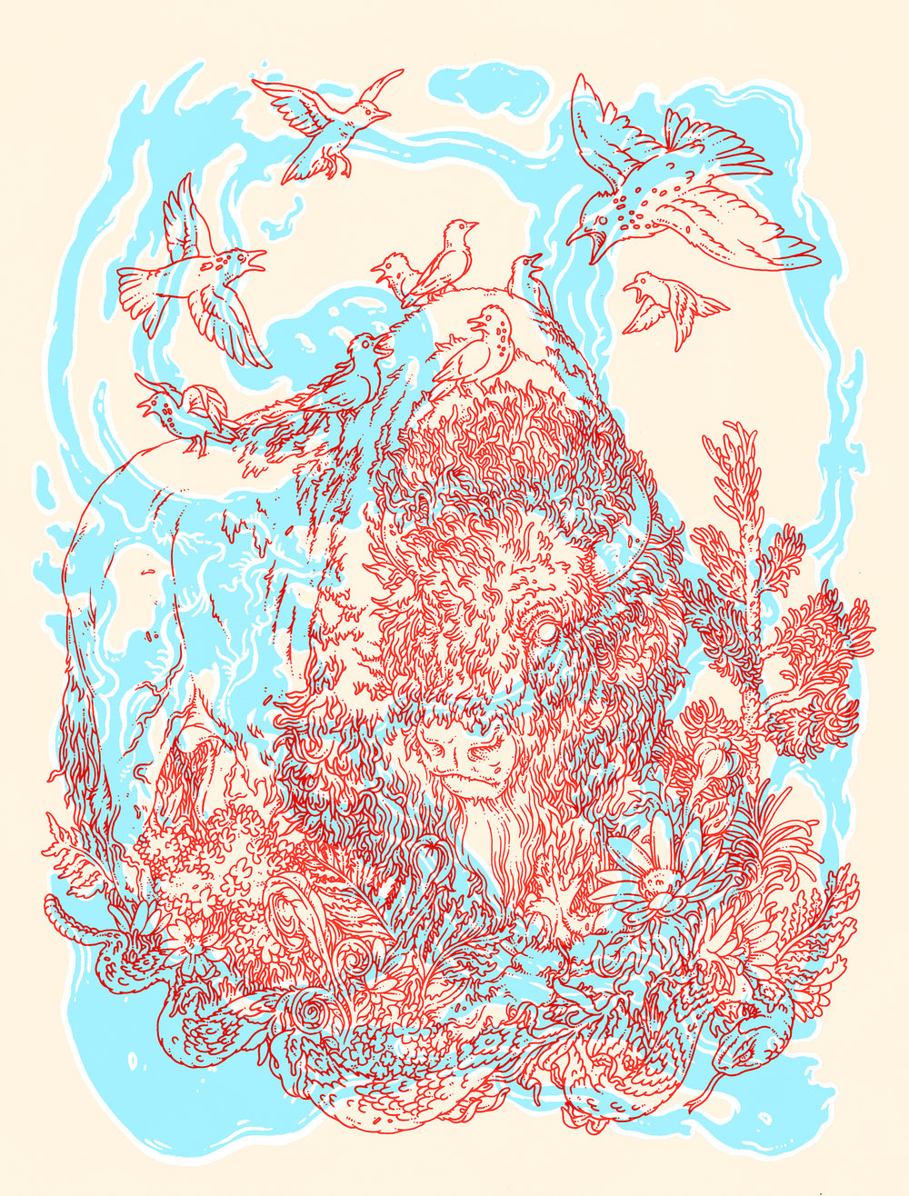 3 Layer Silkscreen Print, 2014.