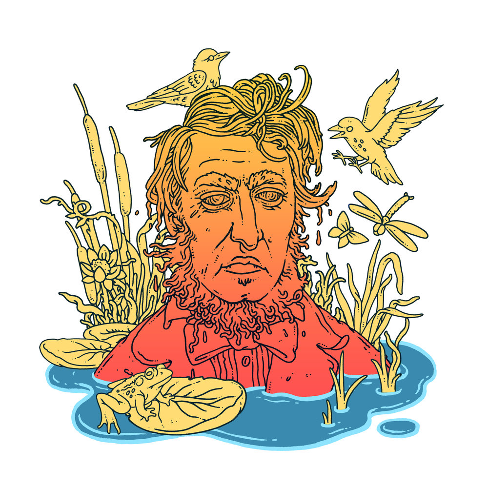 Artwork for New Yorker article about Henry David Thoreau. AD Christine Curry.  Click here for article.