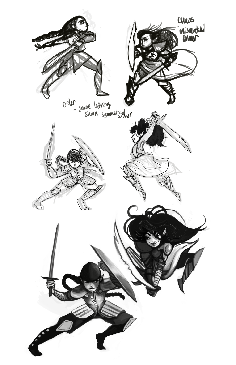 Eyewire Neuroquest Competiton: Character concepts for the personifications of Order and Chaos.