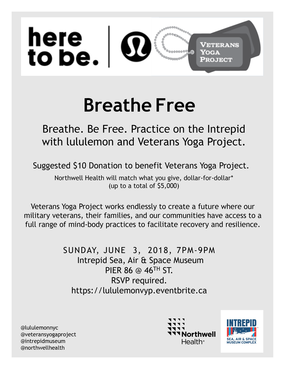 Click the USS Intrepid to find out more about the Breathe Free event.