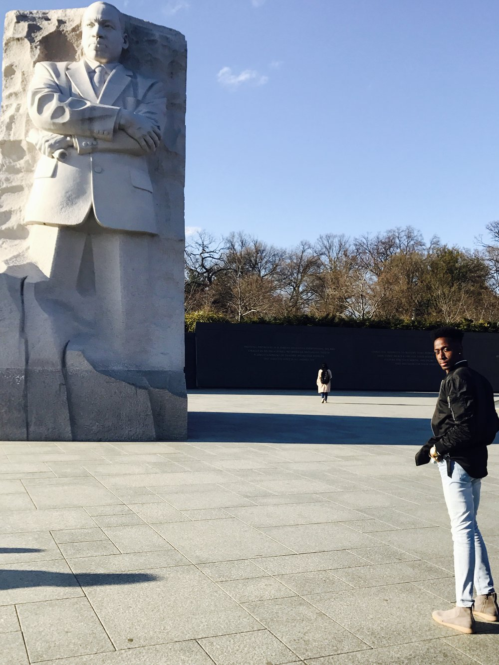 Noah at the MLK Monument