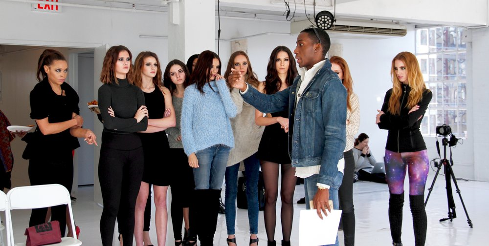 Briefing models for SS 16 runway shows