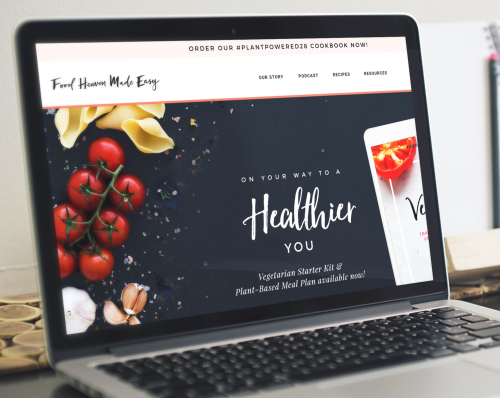 food heaven made easy hand lettered logo