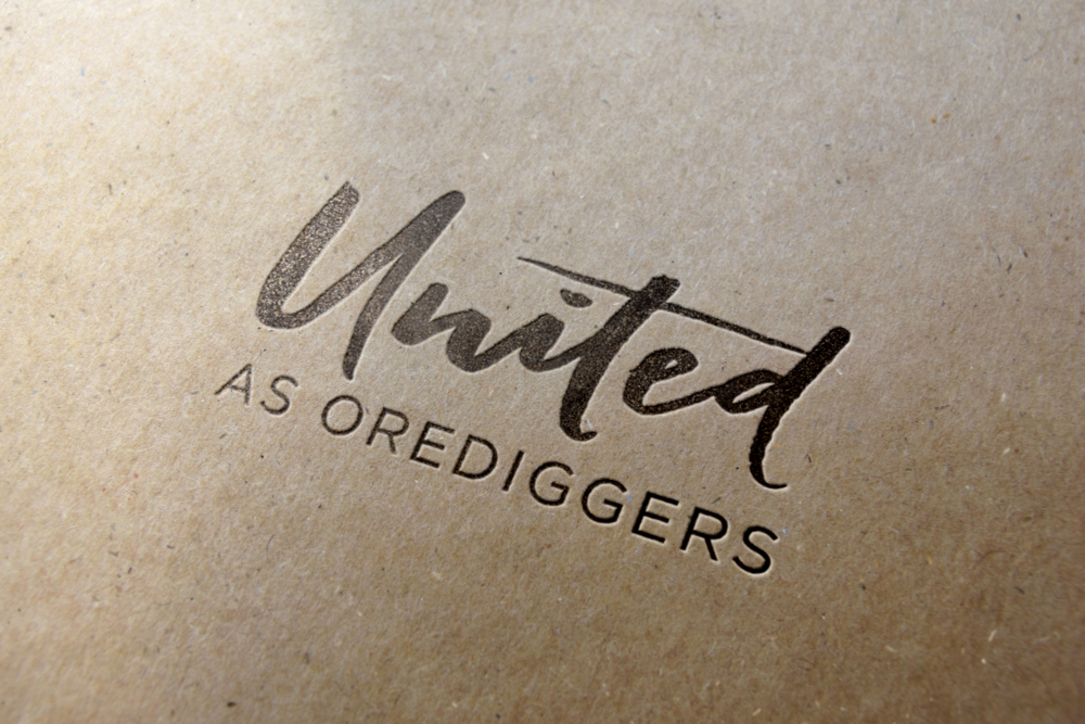 united as orediggers logo design