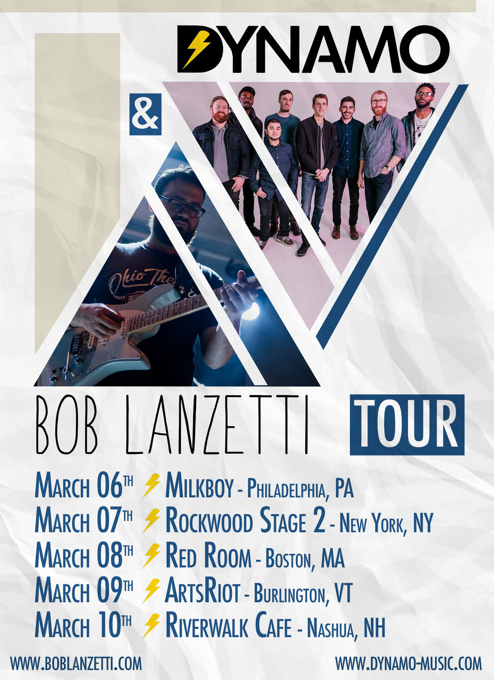 Northeast tour with Dynamo. March 2018
