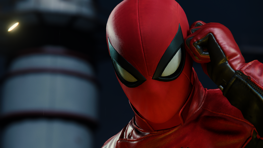 The textures on this suit…