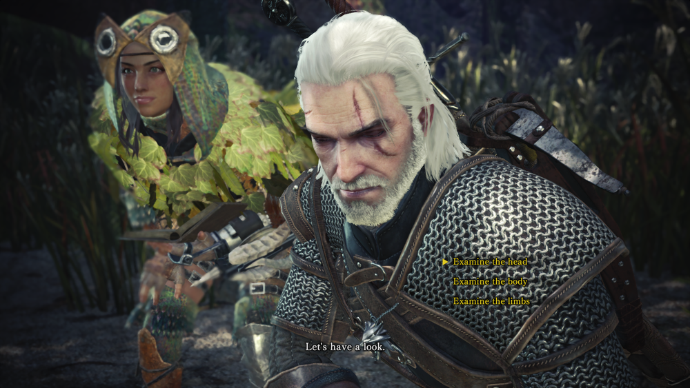 The first time a  Monster Hunter  game has let you say something other than [hunts monsters].