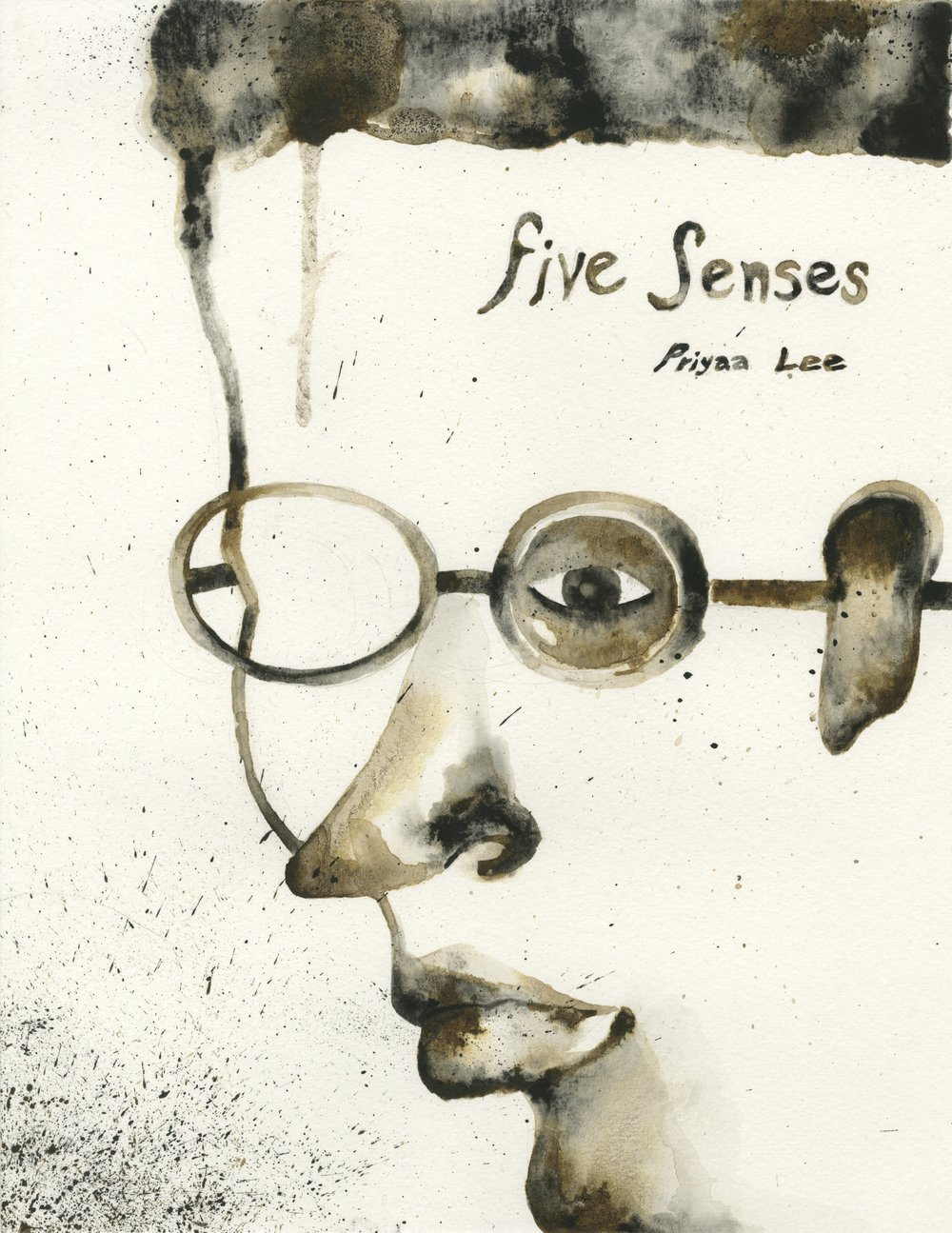 """Book Cover Page - """"Five Senses"""" (personal projected name)"""