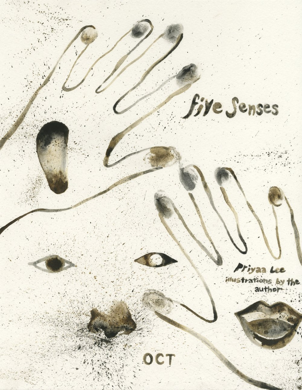 "Book Title Page - ""Five Senses"" (personal projected name)"