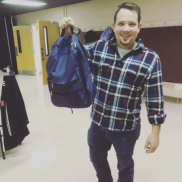 Over 75 #wecare backpacks for the homeless! Take it with you and give it to someone in need this #thanksgiving