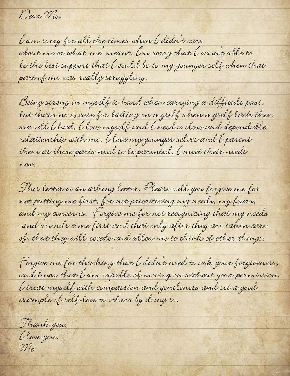 letter asking for forgiveness a forgiveness letter to yourself suzanne connolly 17541 | antiqued lined paper background 16
