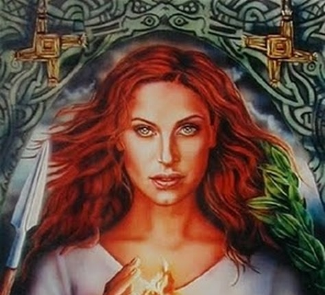"""""""Imbolc is the feast of the Gaelic Goddess Brigid, who was a formidable but gentle Goddess, full of wisdom and benevolence, blessing and gifting, who represented the light half of the year, and the power that will bring people from the dark season of winter into spring."""" -"""