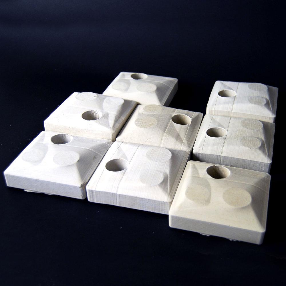 """Object #04.17 (4""""x4""""x1"""" per unit), Concrete"""