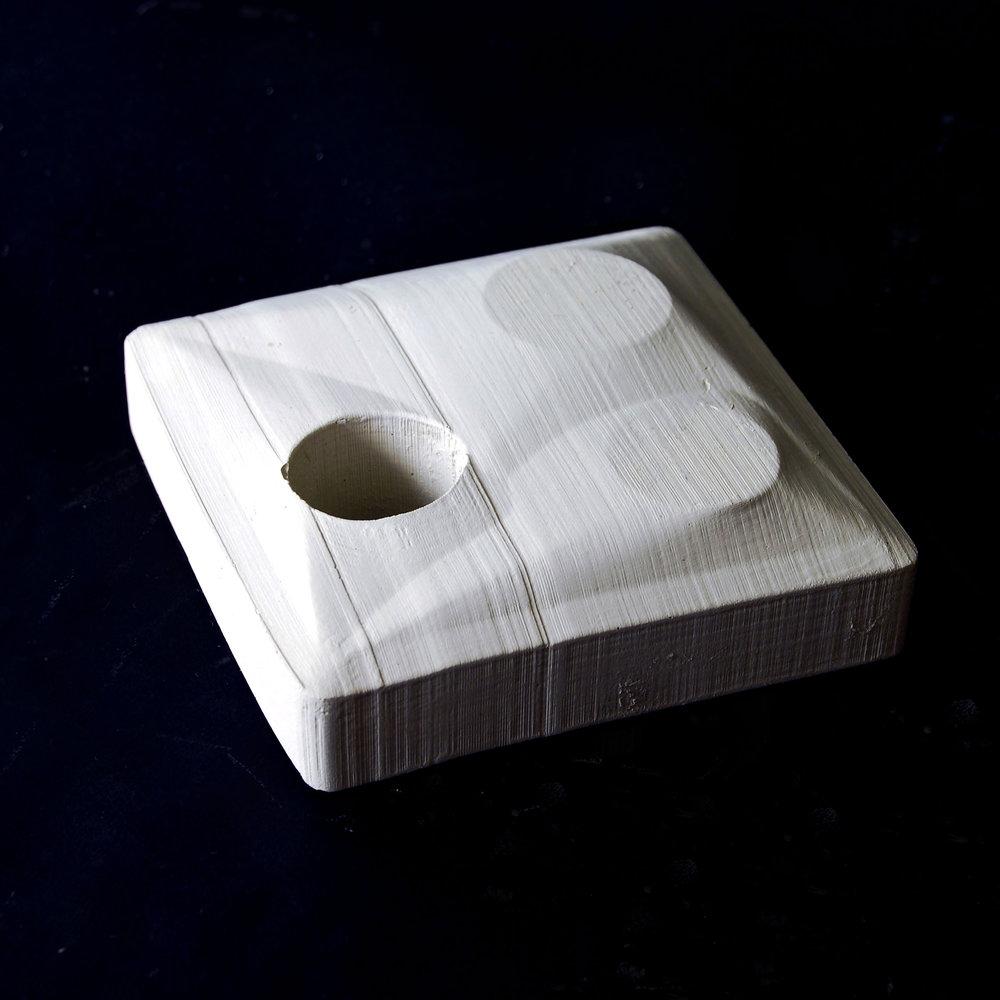 """Object #04.17 (4""""x4""""x1""""), Concrete"""