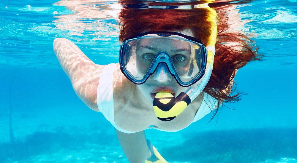Snorkeling around Red Rocks