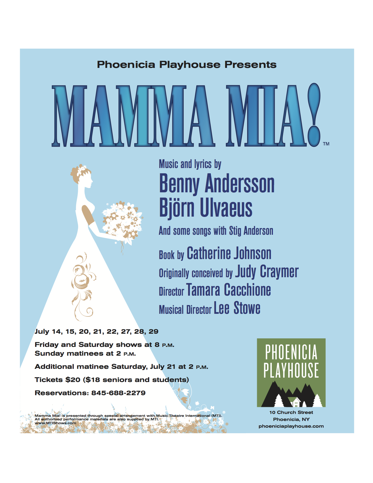 Productions — Phoenicia Playhouse