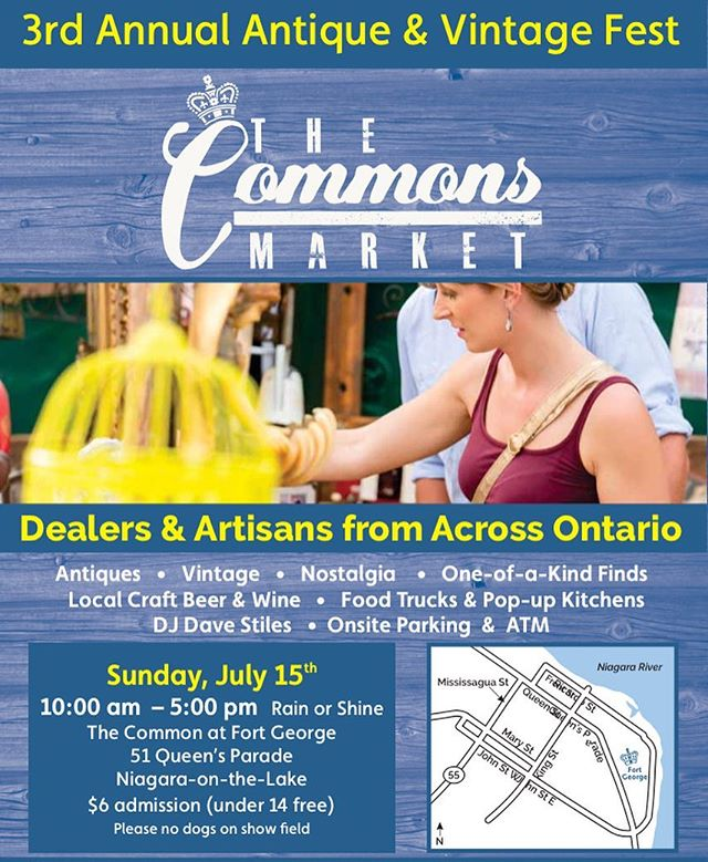Excited to be part of this super cool event, again! Awesome vendors and one of a kind finds, check out the link in our bio for more info! #notl #vintagefest #getsbetterwithage #🌞