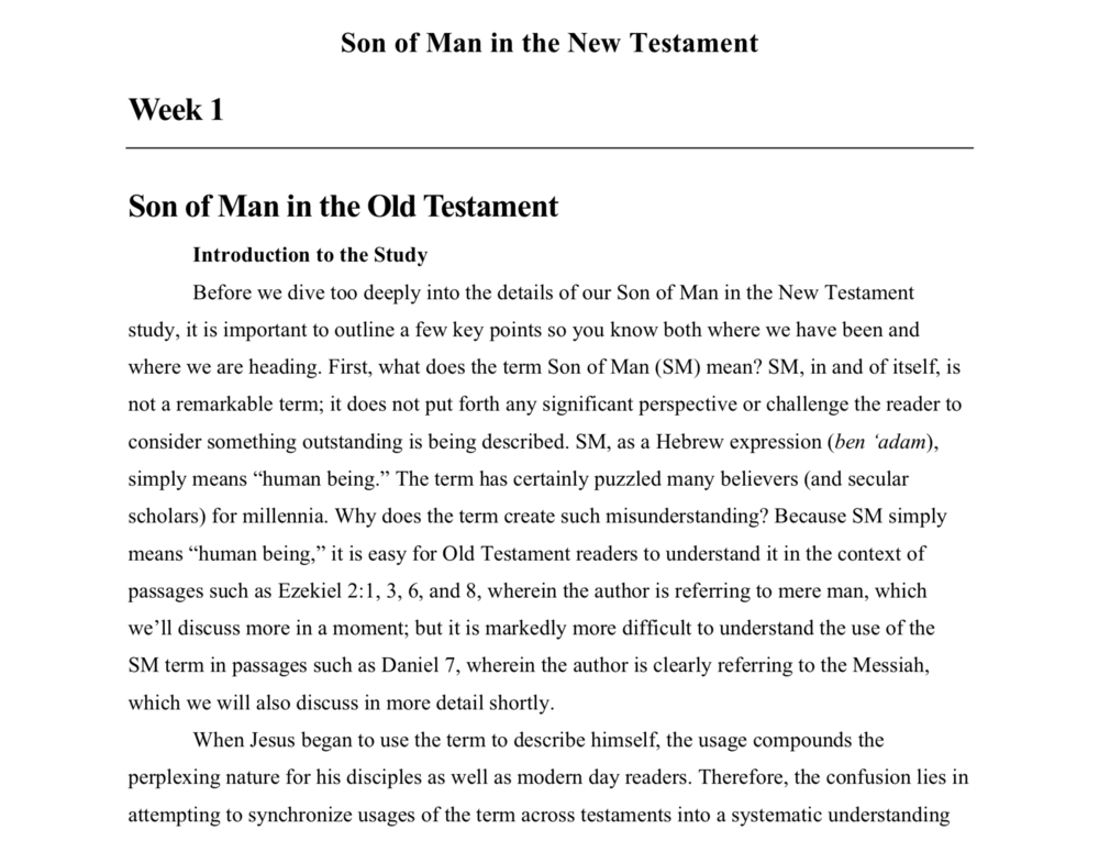 Son of Man in the New Testament