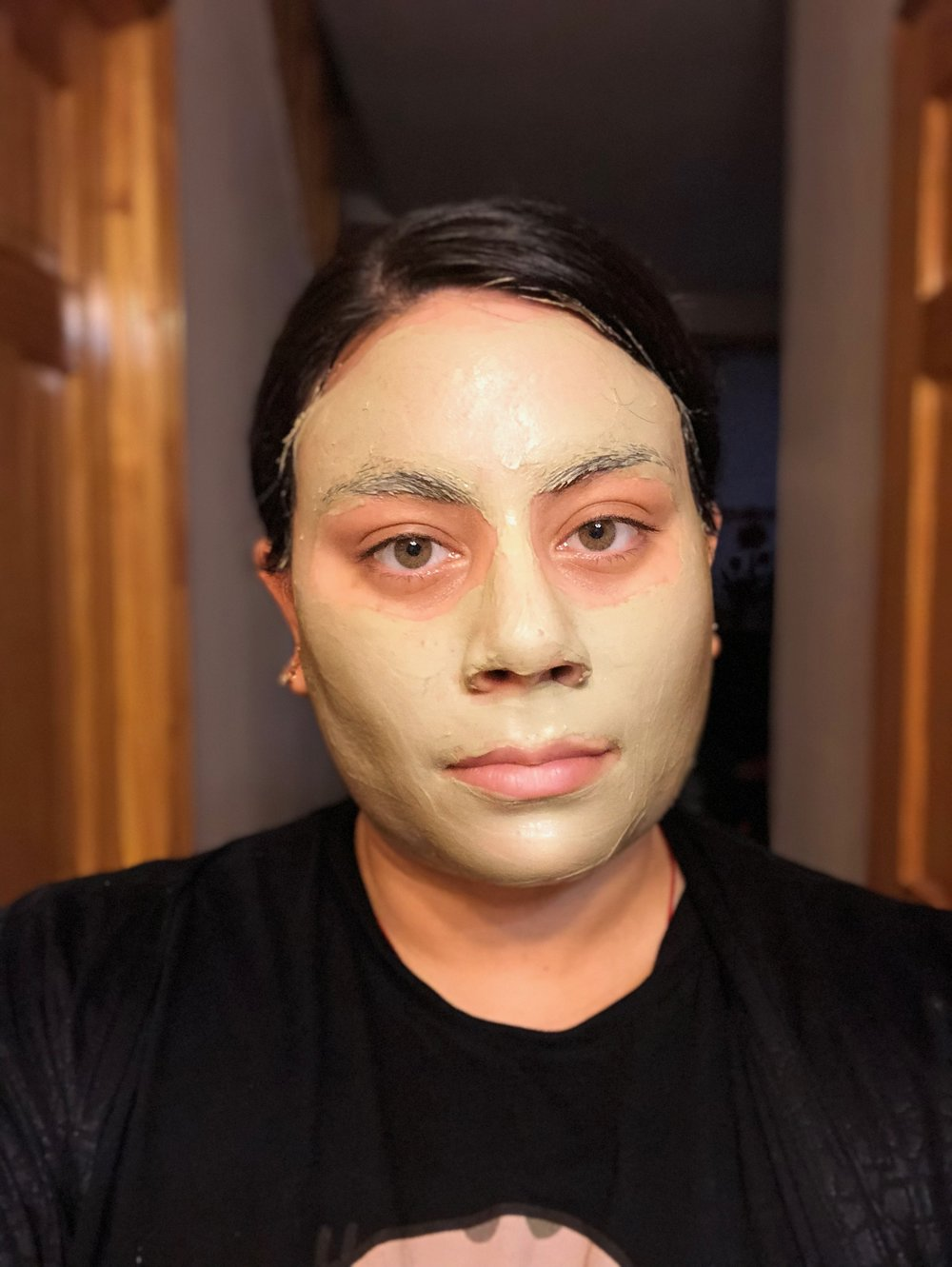 My face after a generous application of the clay mask.