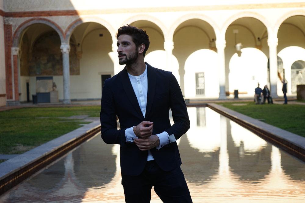 Castello in Suit Milano With Mr Salvatore David Lundin Topmodel Sverige Italy-1.jpg
