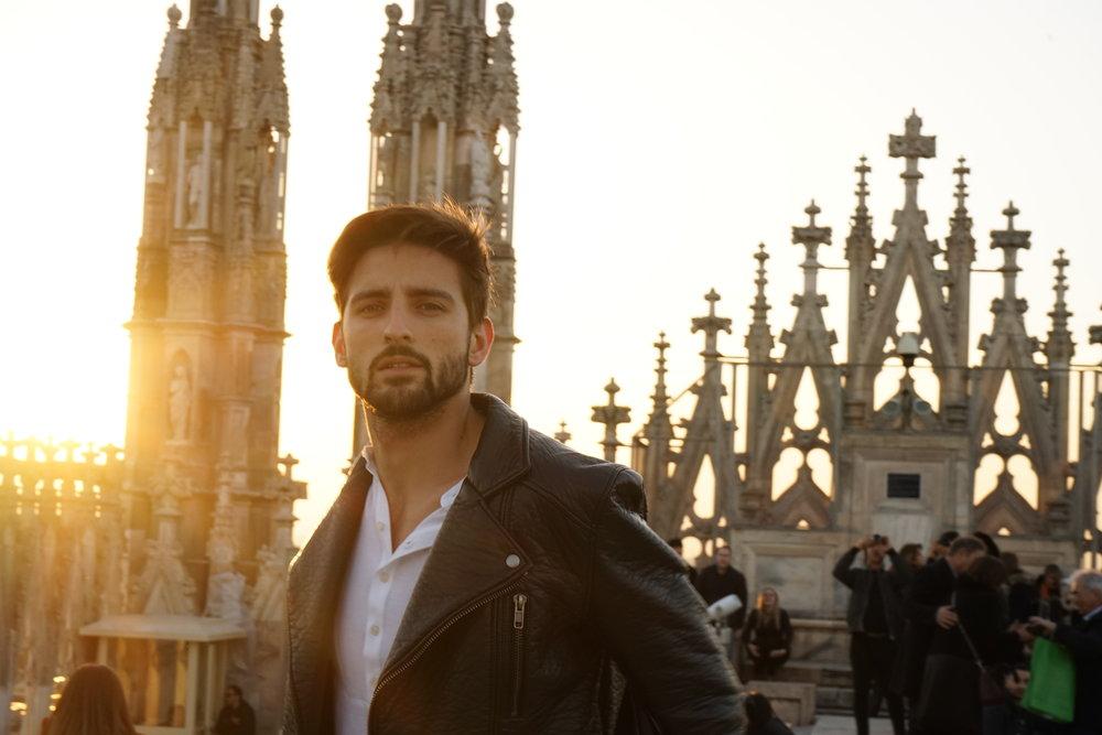 On Top Of Duomo next to the Clouds Model David topmodel lundin-05.jpg