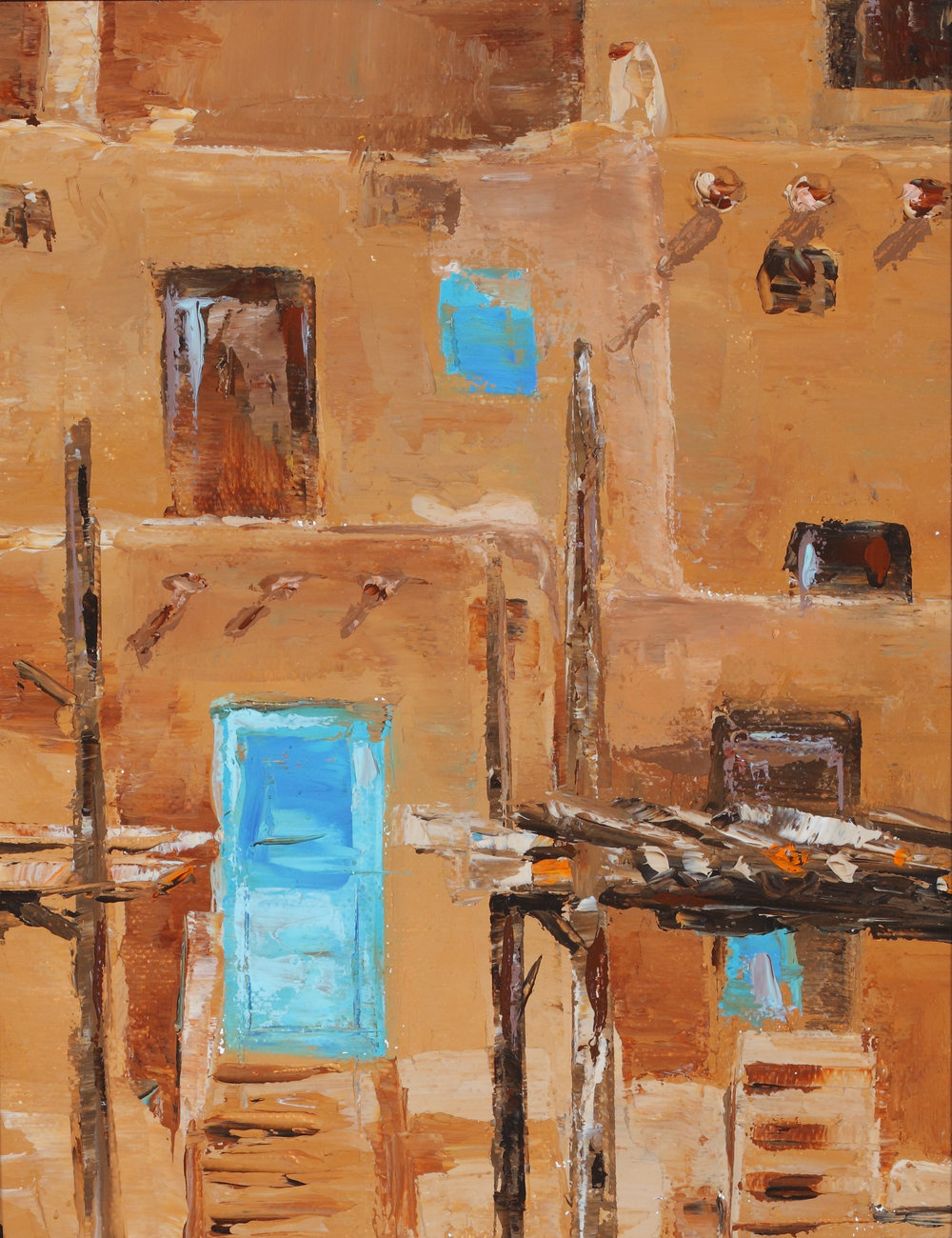 Youngsook Park_Taos Pueblo_8x10in_Oil_400.00.jpg