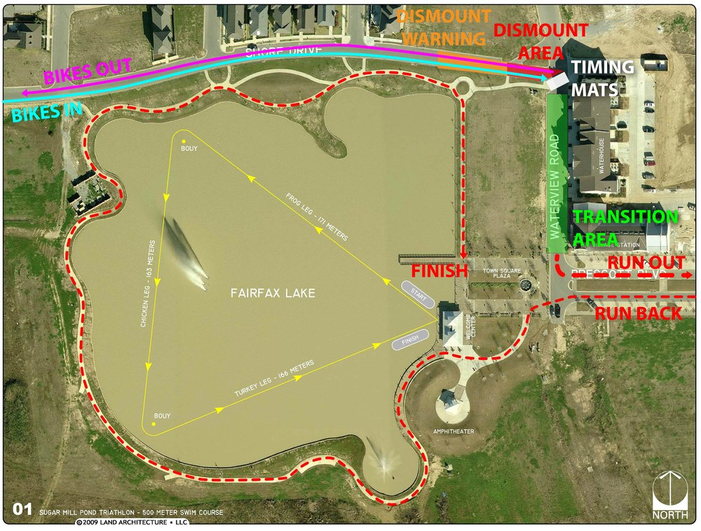 Swim Course and Transition Map