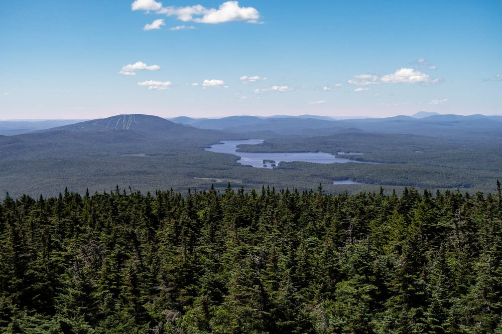 Mount Stratton Fire Tower View