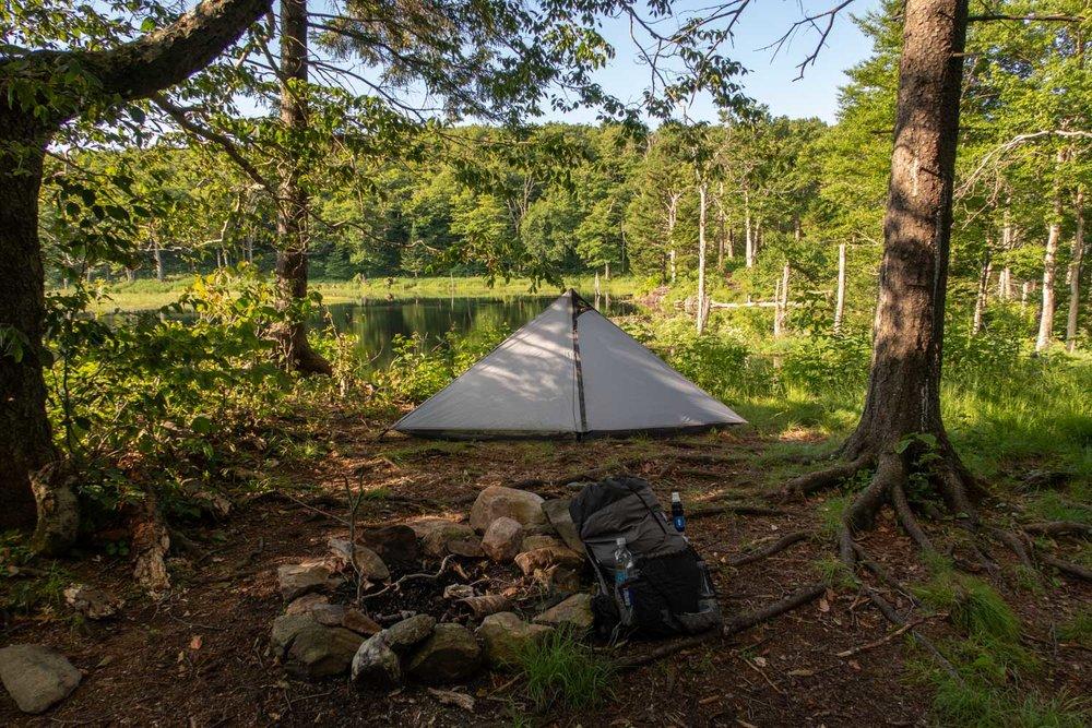beaver pond camp spot