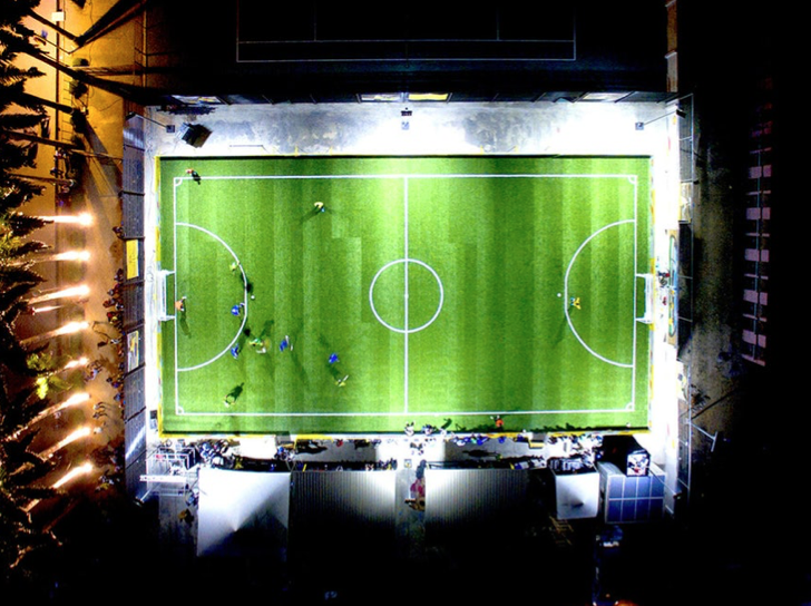 solar powered football pitch