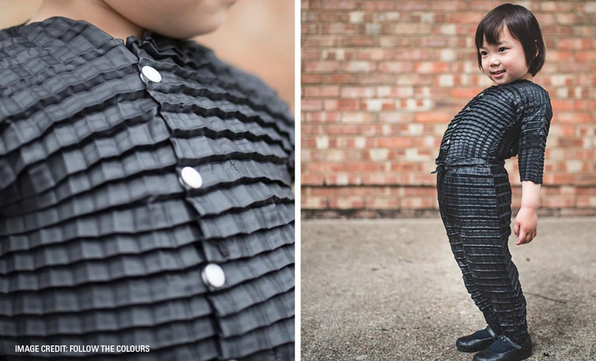 Ryan Mario Yasin has created a range of concertina clothing that grows and moves with kids.