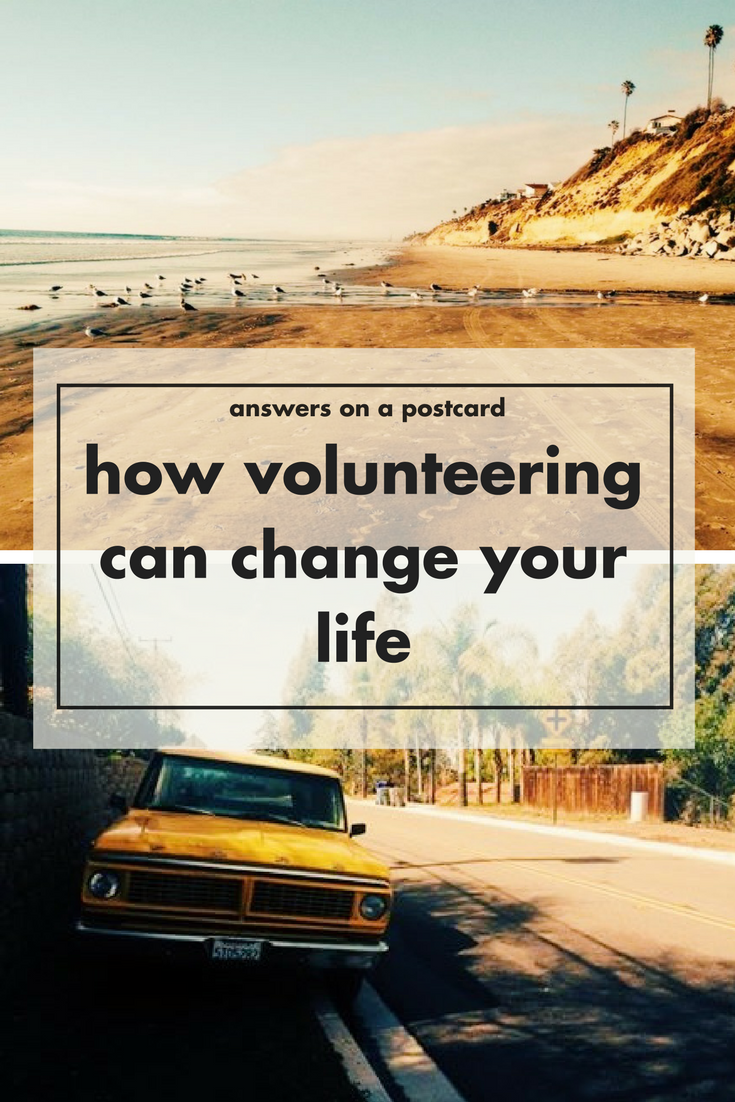 How volunteering can change your life