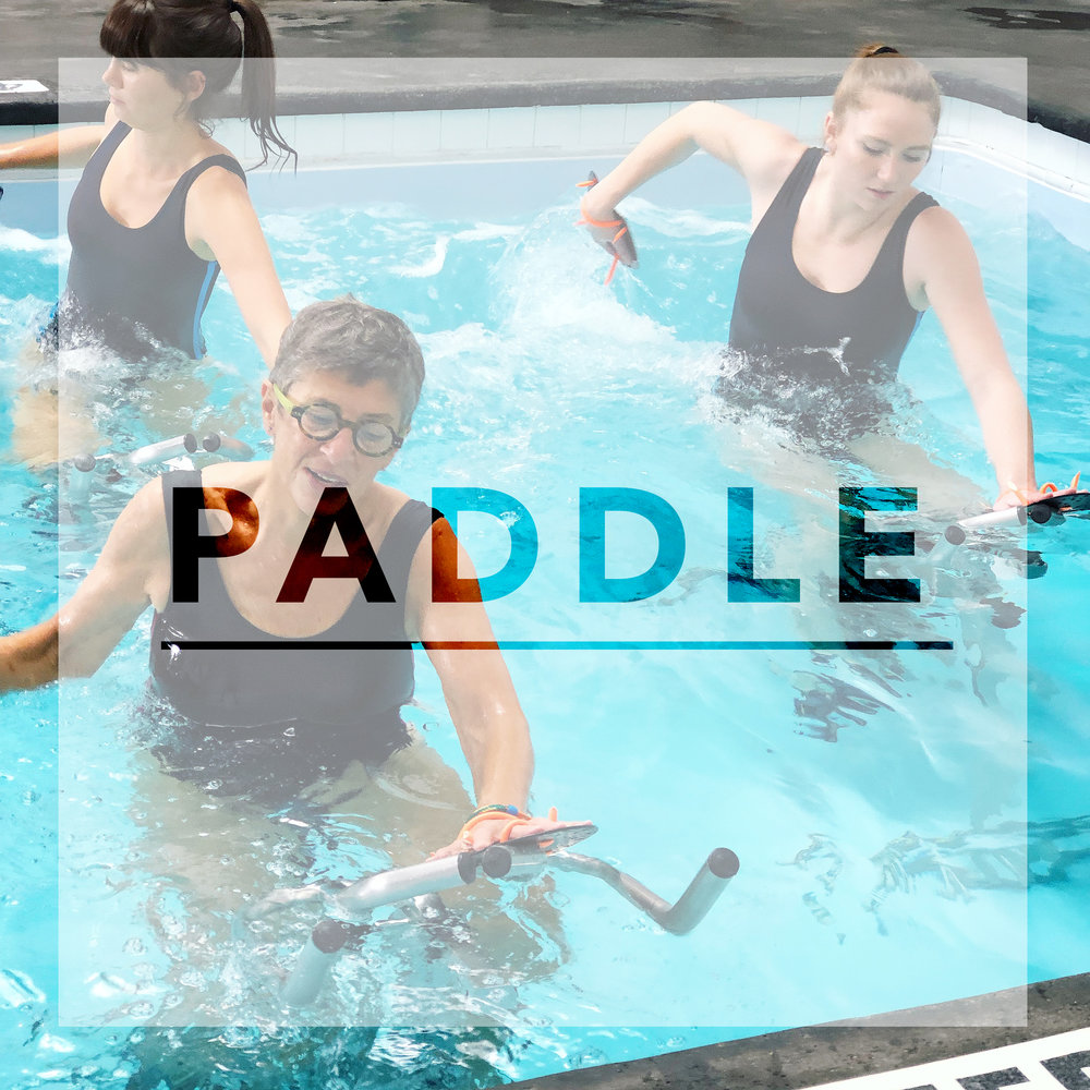 Class description - Use of hand paddles to increase resistance and intensify arm movements and upper-body strengthening while pedaling. | WHAT TO EXPECT | Serious Upper Body Sculpting. | NOT RECOMMENDED FOR |Too intense for Shoulder injuries.