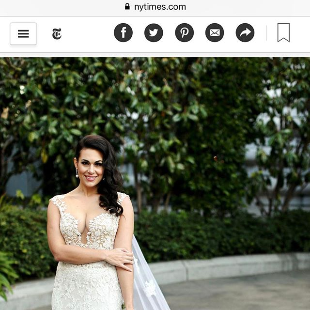 Our beautiful bride featured in The New York Times #woohoo #facesbyemily #lovemyjob #featuredoncewed #nytimes