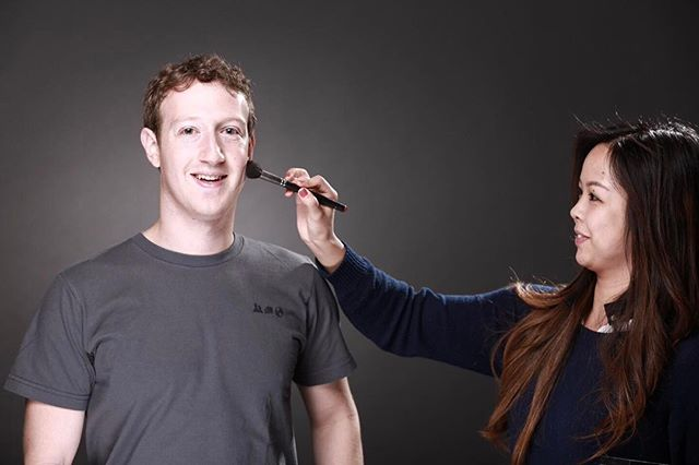 Just me and Mark Zuckerberg hanging out #tbt #corporate #makeupartist #facebook #CEO #lovemyjob #facesbyemily