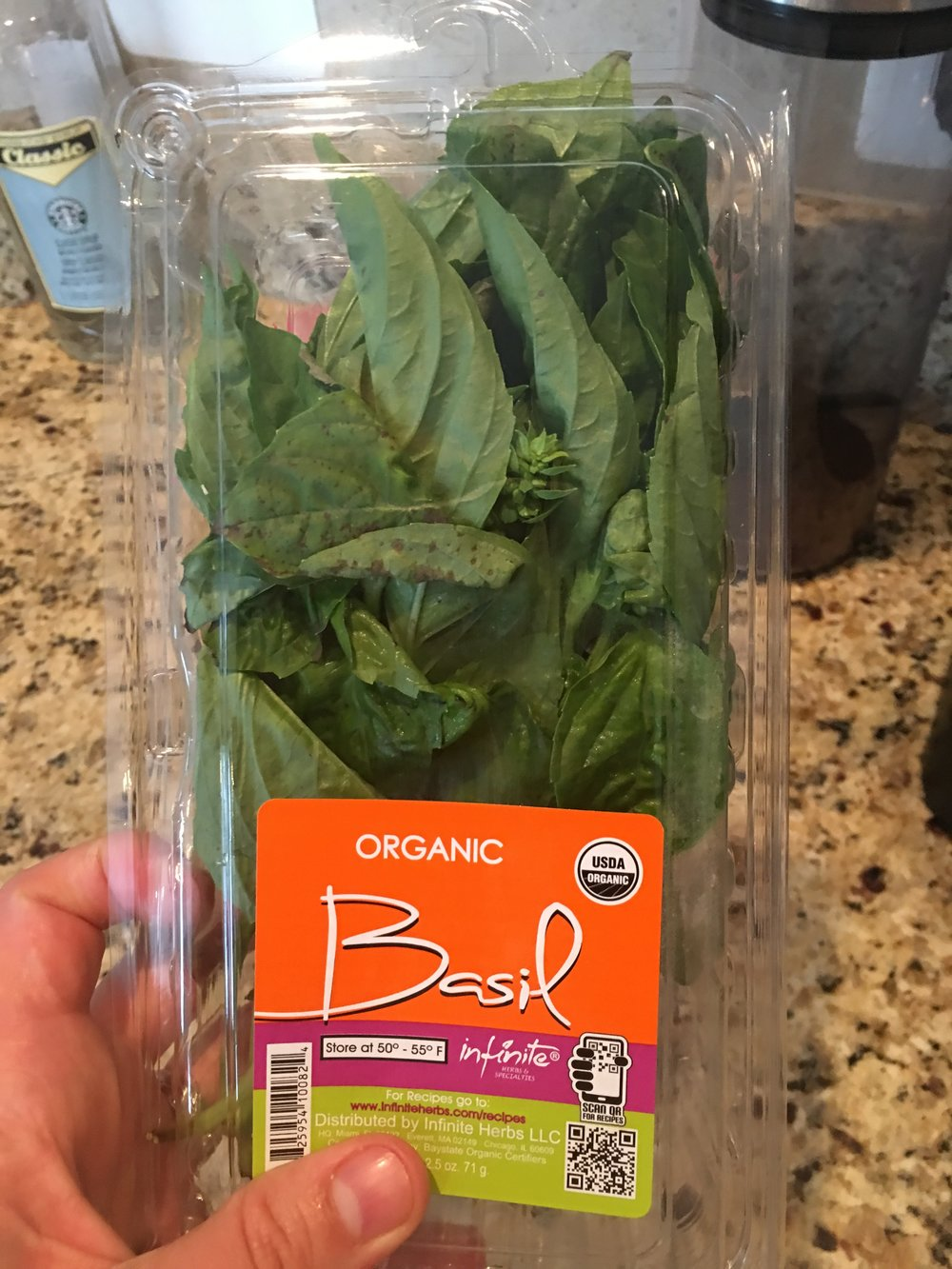 This is the basil i chopped up.