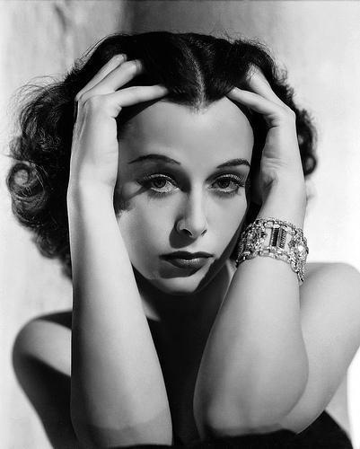 Studio publicity portrait featuring Lamarr wearing a bracelet by Joseff