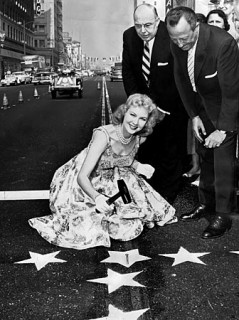 Star for a star - Virginia Mayo was one of the first actresses to earn a star on the Hollywood Walk of Fame in February of 1960.