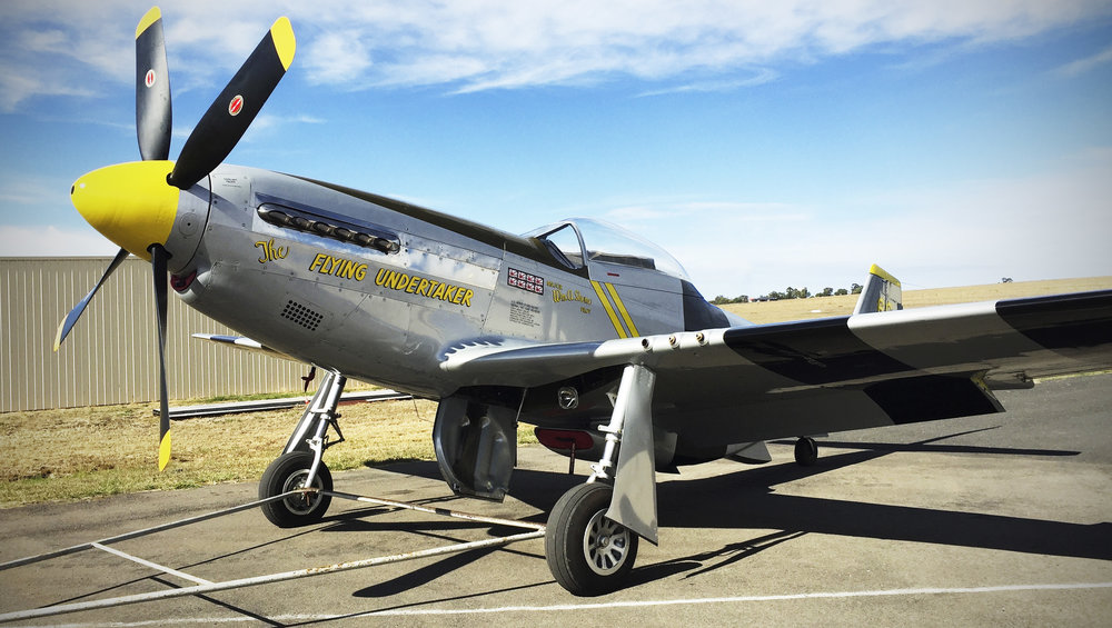North American P-51D Mustang VH-FST following restoration in 2016.
