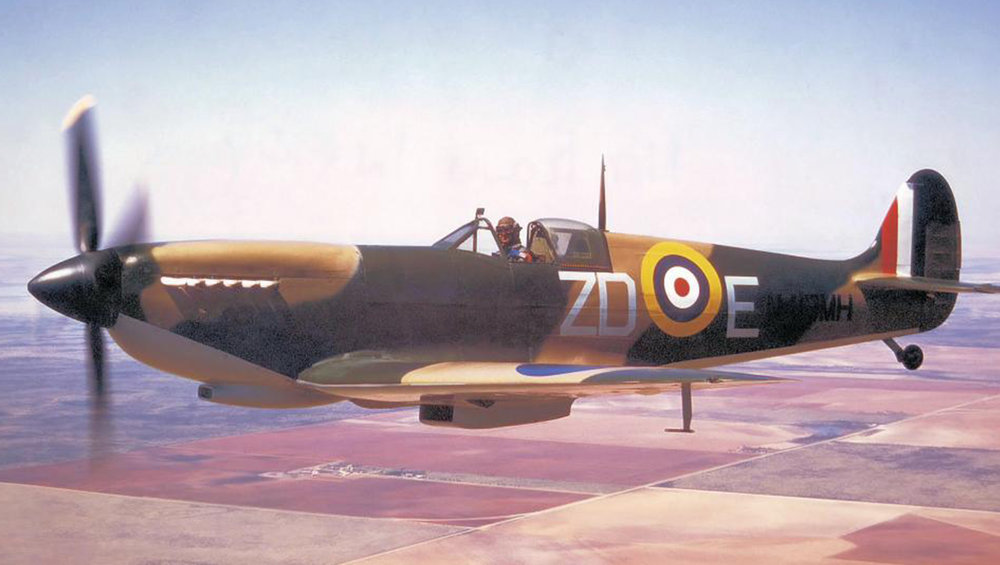 Spitfire MH415 is in the workshops of VFR.
