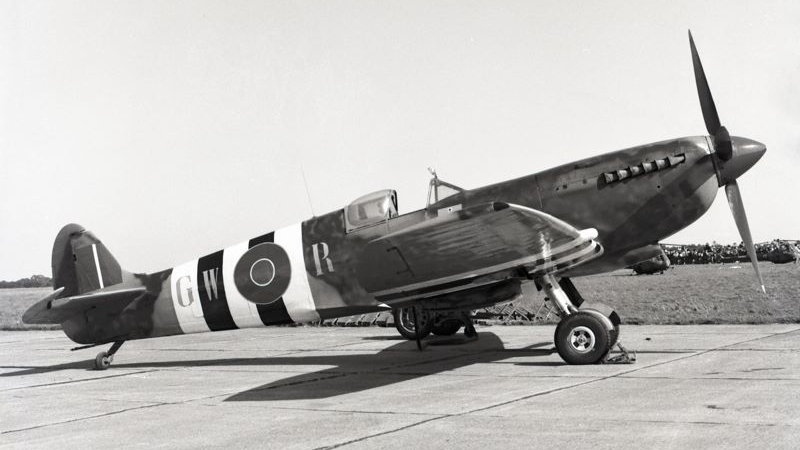"Spitfire Mk.IX MH415 as it appeared in ""The Longest Day""."