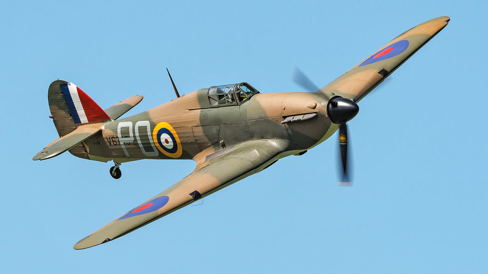 Ross Pay makes the first Hurricane flight in Australia since WWII.
